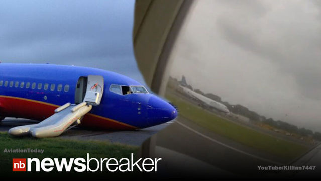 News video: CAUGHT ON TAPE: Terrifying Video Inside Southwest Flight as it Crash Landed in NY